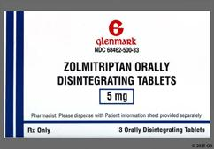 White Round Dose Pack F11 - Zolmitriptan 5mg Orally Disintegrating Tablet