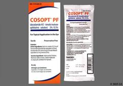 colorless - Cosopt PF 2%-0.5% Ophthalmic Solution