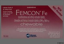 Brown Round Package Wc And 624 - Femcon Fe Chewable Tablet