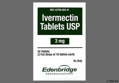 White Round Tablet 806 - Ivermectin 3mg Tablet