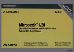Microgestin 1/20 Coupon - Microgestin 1/20 21 tablets package