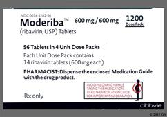 Moderiba Coupon - Moderiba 56 tablets of 1200mg dose pack