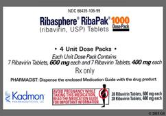 Blue Oblong Dose Pack 3Rp And 600 - RibaPak 1000mg/day Compliance Pack Tablet