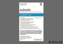 White D-Shaped Sublingual 2.9 - Zubsolv 2.9mg-0.71mg Sublingual Tablet