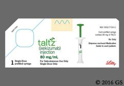 yellow - Taltz 80mg/mL Pre-Filled Syringe Solution for Injection