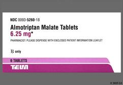 White Round Dose Pack A1 And 93 - Almotriptan Malate 6.25mg Tablet