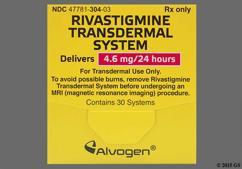 Tan Round Carton Rivastigmine 4.6 Mg/24 Hr - Rivastigmine 4.6mg/24hr Transdermal Patch