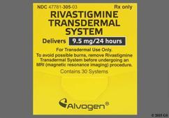 Tan Round Carton Rivastigmine 9.5 Mg/24 Hr - Rivastigmine 9.5mg/24hr Transdermal Patch