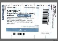 White Round Package Novo 291 And Logo - Lopreeza 0.5mg-0.1mg Tablet