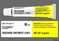 white and yellow - Desonide 0.05% Topical Ointment