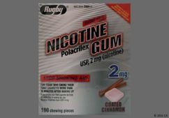 pink square gum - Nicotine Polacrilex 2mg Chewing Gum (Cinnamon)