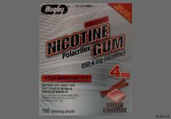 red square gum - Nicotine Polacrilex 4mg Chewing Gum (Cinnamon)