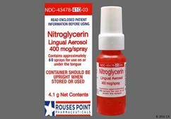 Nitrolingual Coupon - Nitrolingual 12g of 400mcg/spray bottle of spray