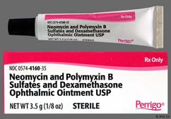 white - Neomycin Sulfate/Polymyxin B Sulfate/Dexamethasone Ophthalmic Ointment