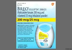 Breo Ellipta Coupon - Breo Ellipta 60 blisters of 200mcg/25mcg inhaler