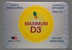 Blue And Orange Capsule Max D3 - MAXIMUM D3 10000units Capsule