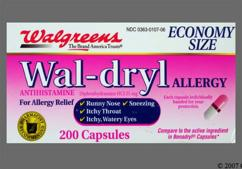 Pink And White 44-107 44-107 - Wal-dryl Allergy Capsule