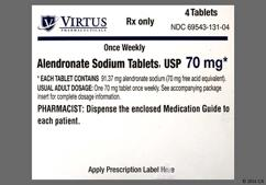 White Oval Dose Pack Ap205 - Alendronate Sodium 70mg Tablet