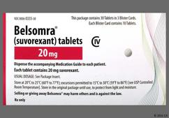 White Round Tablet 335 And Logo - Belsomra 20mg Tablet