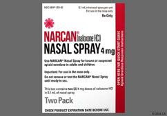 Narcan Coupon - Narcan two 4mg nasal sprays box