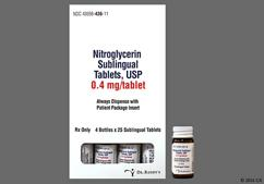 White Modified Rectangle Sublingual 4 And Cl - Nitroglycerin 0.4mg Sublingual Tablet
