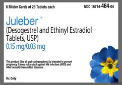 Juleber Coupon - Juleber 28 tablets of 0.15mg/0.03mg package