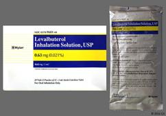 colorless - Levalbuterol Hydrochloride 0.63mg/3mL Solution for Inhalation