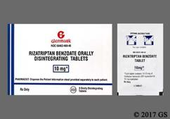 White Round 468 - Rizatriptan Benzoate 10mg Orally Disintegrating Tablet