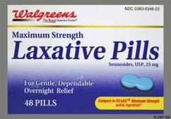 Blue Round Tablet 44 348 - Walgreens Laxative 25mg Tablet