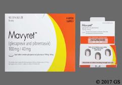 Pink Oblong Package Nxt - Mavyret 100mg-40mg Tablet