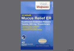 White Oblong Mxeunic And 600 - Walgreens Mucus Relief ER 12 Hour 600mg Extended-Release Tablet