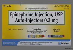 Epipen Coupon - Epipen 2 auto-injectors of 0.3mg package