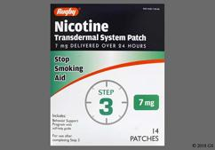 Tan Round Patch Nch 0830 - Nicotine 7mg/24hr Transdermal Patch