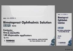 Bimatoprost Coupon - Bimatoprost 5ml of 0.03% bottle of topical solution