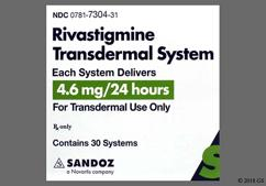 Beige Round Carton Rivastigmine 4.6 Mg/24 Hours Amcx - Rivastigmine 4.6mg/24hr Transdermal Patch