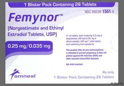 Femynor Coupon - Femynor 28 tablets of 0.25mg/0.035mg package