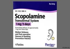 motion sickness patch scopolamine side effects