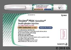 colorless - Toujeo Max SoloStar 300units/mL Pre-Filled Pen Solution for Injection