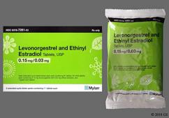 Green Round Package 279 - Levonorgestrel/Ethinyl Estradiol 0.15mg-0.03mg Tablet