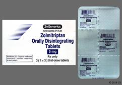 White Round 717 - Zolmitriptan 5mg Orally Disintegrating Tablet