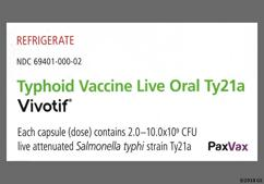 pink and white - Vivotif Typhoid Oral Vaccine