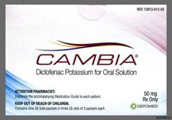 Cambia Coupon - Cambia 9 packets of 50mg box