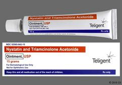 tan - Nystatin/Triamcinolone Acetonide 100000unit/g-0.1% Topical Ointment