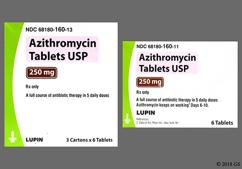 Pink Oval Lu And L11 - Azithromycin 250mg Tablet (6ct Blister Card)