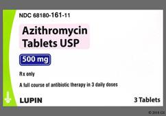 Pink Oval Tri-Pak Lu And L12 - Azithromycin 500mg Tablet (3ct Blister Card)