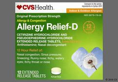 white and yellow round - CVS Allergy Relief-D 12 Hour 5mg-120mg Extended-Release Tablet