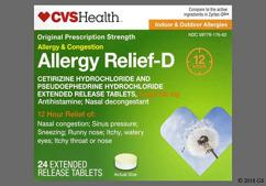 white round - CVS Allergy Relief-D 12 Hour 5mg-120mg Extended-Release Tablet