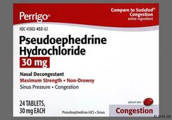 red-orange round - Pseudoephedrine Hydrochloride 30mg Tablet