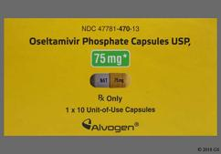 Oseltamivir Coupon - Oseltamivir 10 capsules of 75mg dose pack