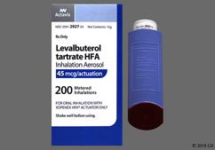 Levalbuterol Coupon - Levalbuterol 15g of 45mcg inhaler